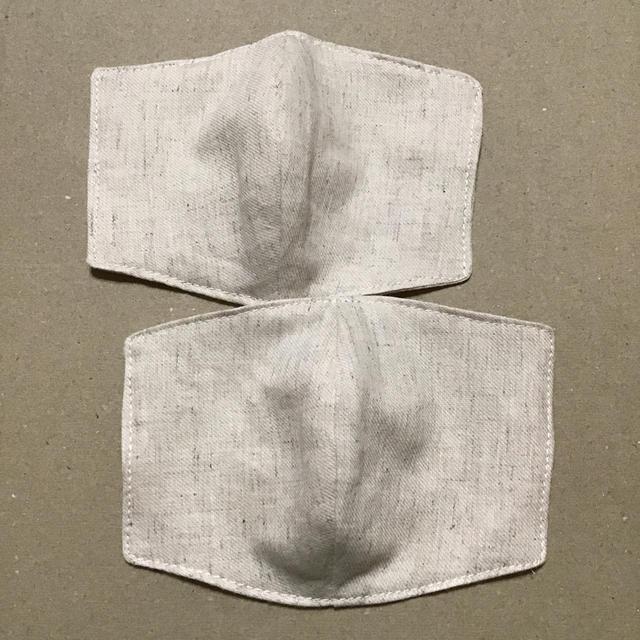 立体インナーますく 薄手 綿麻 ベージュ の通販