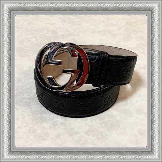 リビエラ 時計 スーパー コピー / Gucci - GUCCI グッチ ベルト GG グッチシマ インターロッキング 黒 95の通販