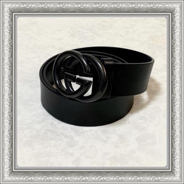カルティエ 時計 大阪 スーパー コピー | Gucci - GUCCI グッチ ベルト GGバックル インターロッキング レザー 黒 90の通販