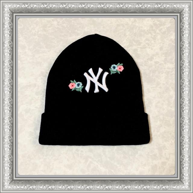 Gucci - GUCCI グッチ ニット帽 ビーニー帽 NYヤンキース 黒 2018AW Mの通販