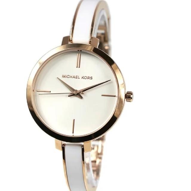 ロレックス 時計 コピー 韓国 、 Michael Kors - 腕時計 白 バングル MICHAEL KORS ブレスレット ウォッチ ホワイトの通販