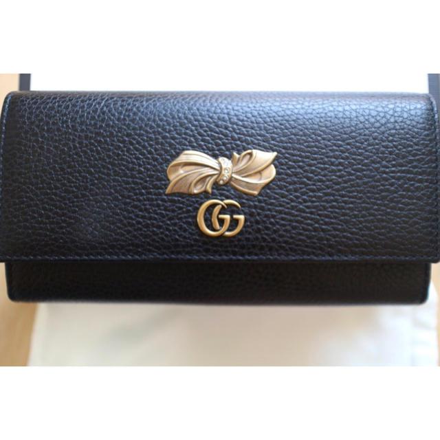 クロンヌ 時計 評判 スーパー コピー 、 Gucci - グッチ ボウ レザー コンチネンタルウォレット 長財布の通販