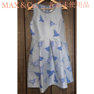 マックスアンドコー(Max & Co.)の【新品未使用】MAX&Co. ドレス ワンピース(ミディアムドレス)