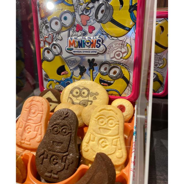 ミニオン(ミニオン)のユニバ USJ ミニオン クッキー缶 アソート 新品  食品/飲料/酒の食品(菓子/デザート)の商品写真