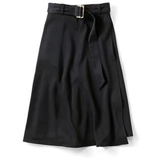 フェリシモ(FELISSIMO)のスカート IEDIT レディース  ベーシック 黒 フォーマル L スカーチョ(ひざ丈スカート)