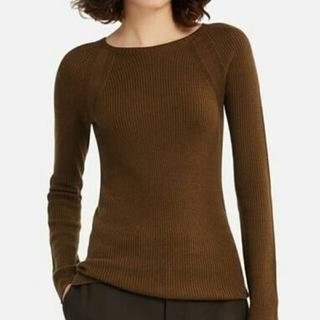 ユニクロ(UNIQLO)のユニクロ  3D クルーネックセーター(ニット/セーター)