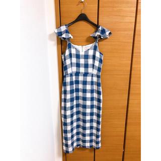 リルリリー(lilLilly)のlilLilly ギンガムチェックドレス(ひざ丈ワンピース)