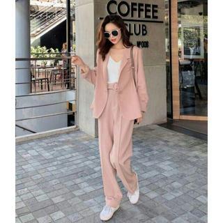 韓国 ファッション レディース セットアップ パンツスーツ