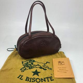 イルビゾンテ(IL BISONTE)の【美品】イルビゾンテ レザー ハンドバッグ ブラウン 保存袋(ハンドバッグ)