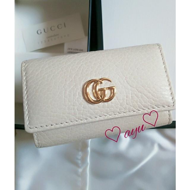 Gucci - 新品未使用❤️GUCCI グッチ プチマーモント キーケース ホワイト 白の通販