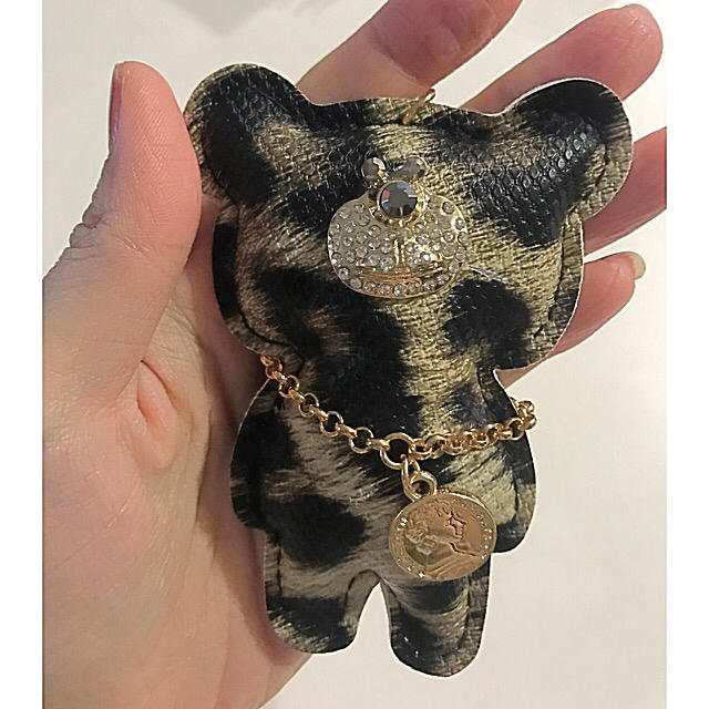 バッグチャーム 新品 キーホルダー キーリング クマ キラキラ デコ グッチの通販