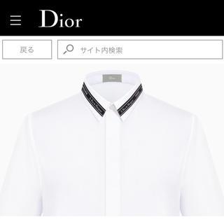 ディオールオム(DIOR HOMME)の極美品定価11万円 18awディオールオムdiorhommeアトリエシャツ(シャツ)