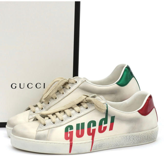 Gucci - 国内正規品 グッチ ロゴ スニーカー 7.5 26 蜂 ロゴ ヴィトン Tシャツ