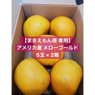 【まきえもん様 専用】アメリカ産 メローゴールド 5玉 × 2箱(フルーツ)