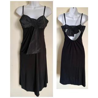 カレンミレン(Karen Millen)のカレンミレン ブラック リボン ドレス ワンピース(ミディアムドレス)