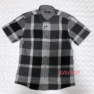 ブラックレーベルクレストブリッジ(BLACK LABEL CRESTBRIDGE)の《新品》ブラックレーベルクレストブリッジ チェック半袖シャツ Mサイズ(シャツ)