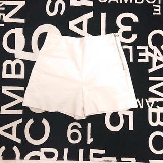 ZARA - ZARA ショートパンツ XS ホワイト 白