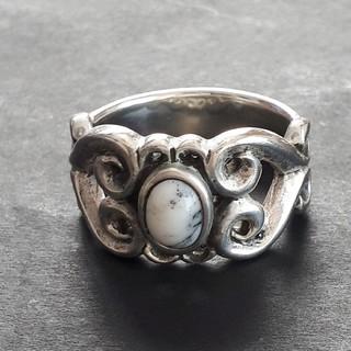シルバー925(純銀製)19号ホワイトターコイズリング/指輪(リング(指輪))