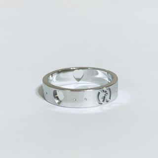 グッチ(Gucci)の美品✨GUCCI グッチ✨K18 750 アイコン アモール ハート リング✨(リング(指輪))