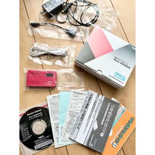 エヌイーシー(NEC)のWiMAXモバイルルータ AtermWM3800R ピンク PA-WM3800R(PC周辺機器)