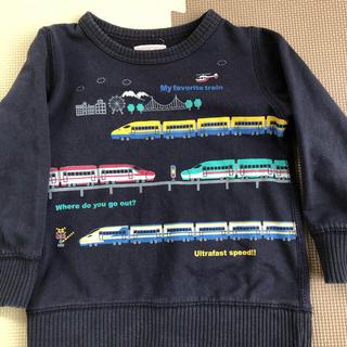 マザウェイズ(motherways)のタイムセール‼️マザウェイズ 電車 トレーナー 100センチ(Tシャツ/カットソー)