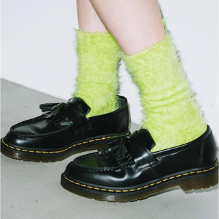 X-girl - x-girl  FEATHER YARN SOCKS ネオンカラー 靴下 ライム