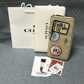 COACH - 未使用品COACH 長財布 コーチメンズレディースジッパー財布29380