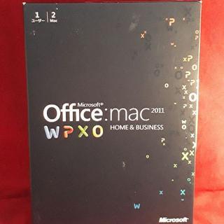 マイクロソフト(Microsoft)の正規●Microsoft Office for Mac 2011●製品版/2PC(その他)