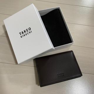 タケオキクチ(TAKEO KIKUCHI)の【新品未使用】タケオキクチ カードケース(名刺入れ/定期入れ)