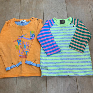 ラグマート(RAG MART)のラグマート 長袖Tシャツ  90㎝ 2枚セット(Tシャツ/カットソー)