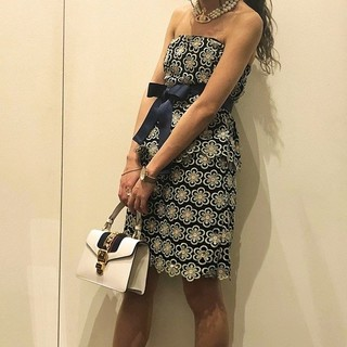 Lily Brown - お花レース ビスチェ&スカート セットアップ