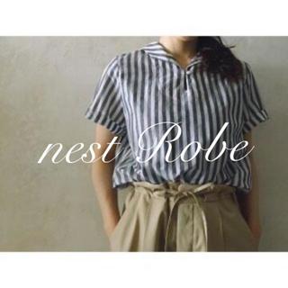 ネストローブ(nest Robe)の* nest Robe * 2017  リネンコットン プチセーラーブラウス(シャツ/ブラウス(半袖/袖なし))