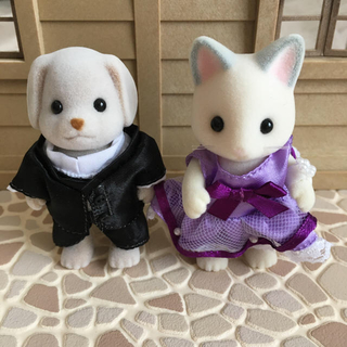 エポック(EPOCH)のシルバニアファミリー イヌ&ネコ 人形(キャラクターグッズ)