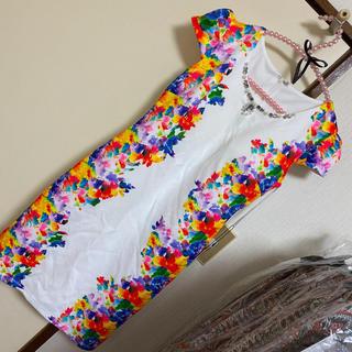 デイジーストア(dazzy store)のキャバドレス 花柄 L☆新品(ミニワンピース)