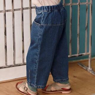 【お洒落!在庫1点限定販売!早い者勝ち】新品未使用 韓国子供服 ストレートデニム(パンツ/スパッツ)