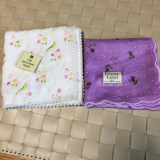 プライベートレーベル(PRIVATE LABEL)の新品!花柄 ☆ハンカチ2枚セットプライベートレーベル(ハンカチ)