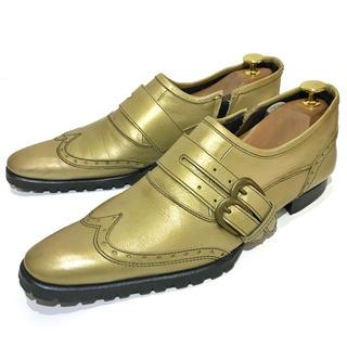 アルフレッドバニスター(alfredoBANNISTER)の◎レア【alfredoBANNISTER】約24.5cm ウイングチップ 革靴(ドレス/ビジネス)