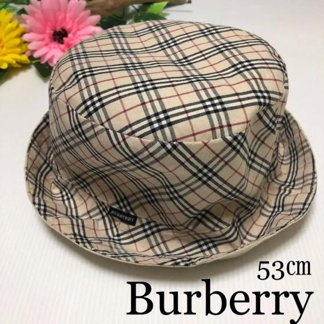 BURBERRY - バーバリー リバーシブル  帽子 53 春 夏 セリーヌ グッチ アルマーニ の通販
