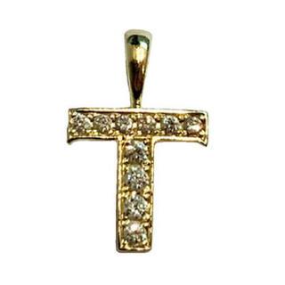 アイファニー(EYEFUNNY)のアイファニー ダイヤモンド アルファベット T 18KYG 美品(ネックレス)