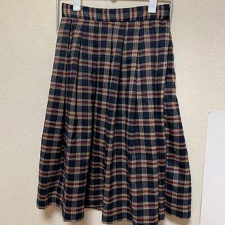 ウーム(WOmB)のWOMB チェックスカート(ひざ丈スカート)