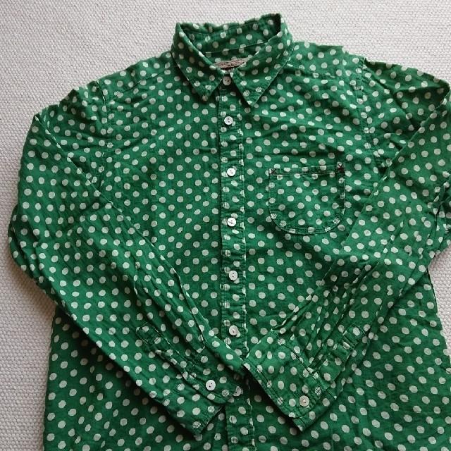 CUBE SUGAR(キューブシュガー)のCUBE SUGAR  ドットシャツ レディースのトップス(シャツ/ブラウス(長袖/七分))の商品写真