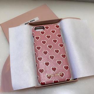 ミュウミュウ(miumiu)のmiu miu ♥︎ iPhoneケース(iPhoneケース)