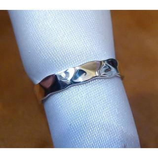 SR1905 指輪シルバー925刻リング 8.5号 シンプル ハンドハンマード (リング(指輪))
