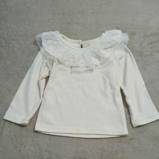 西松屋 - 女の子用ロンT 80cm フリル襟