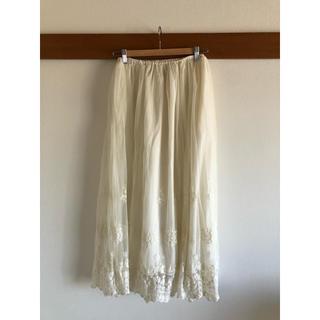 カージュ(Khaju)のロングスカート プリーツスカート カージュ(Khaju) 白 フリーサイズ(ロングスカート)