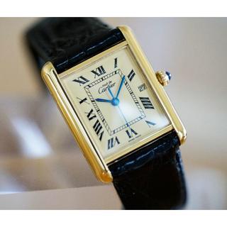 カルティエ(Cartier)の美品 カルティエ マスト タンク アイボリー デイト LM Cartier(腕時計(アナログ))