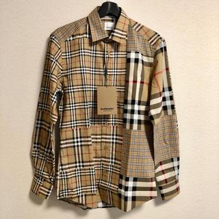 BURBERRY - 新品100%本物【L】Burberry パッチワーク シャツ
