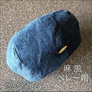 ザラ(ZARA)の麻素材 ベレー帽☆春夏にぴったり♡オシャレ♪╰(*´︶`*)╯♡(ハンチング/ベレー帽)