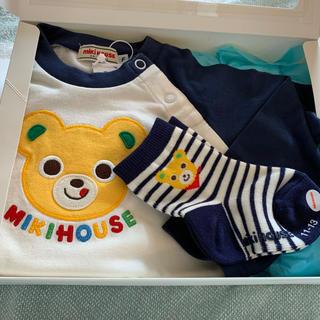 mikihouse - 新品 ミキハウス 長袖Tシャツ 靴下セット