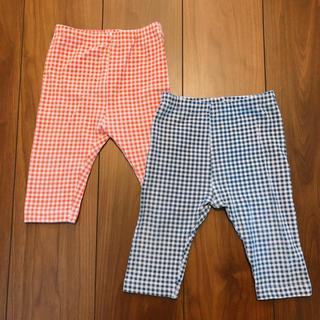 UNIQLO - ユニクロ★春夏用7部丈パンツ、ギンガムチェック90サイズ